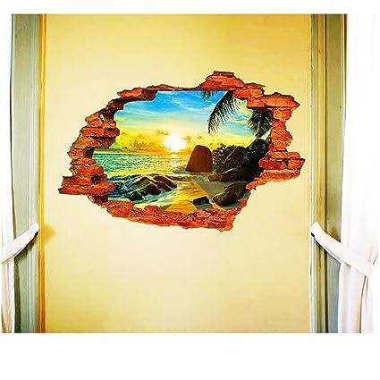 Amazon.com: Geelyda 3D Unique Removable Wall Art Sticker Decal Home ...