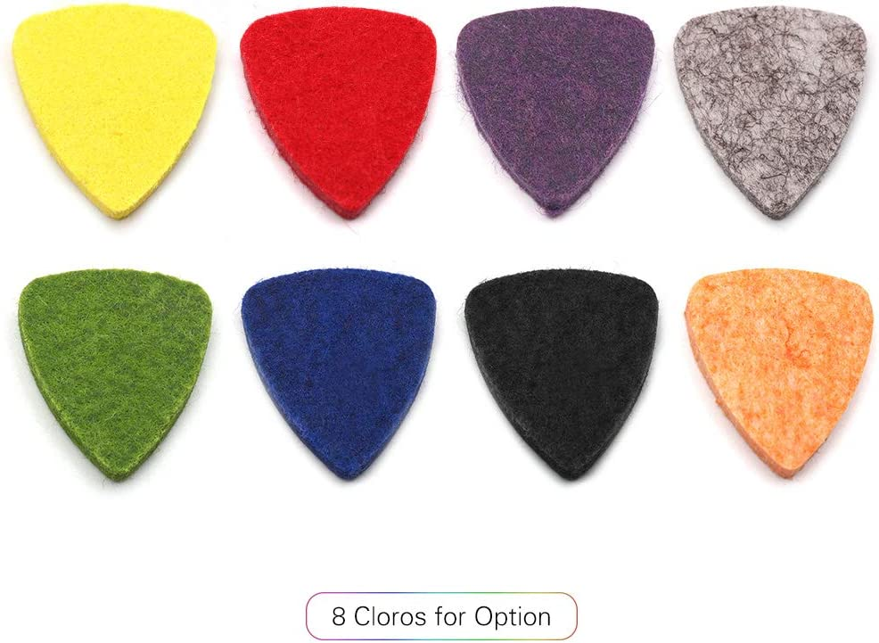 Muslady Ukulele Pick colorato Feltro morbido Spessore 3mm utile Accessorio Ukulele