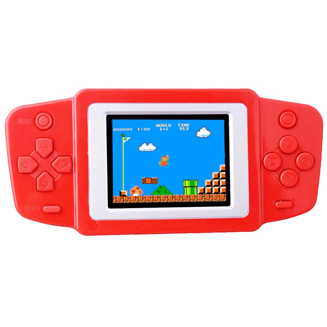 ZHISHAN Kids Retro Handheld Game Console Portable Game Player Built in 269 Classic Old Style Video Games with 2.5'' LCD Screen Boy Arcade Gaming System Unique Gift for Children (Red)