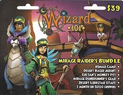 Amazon com: Wizard 101 Mirage Raider's Bundle Prepaid Game