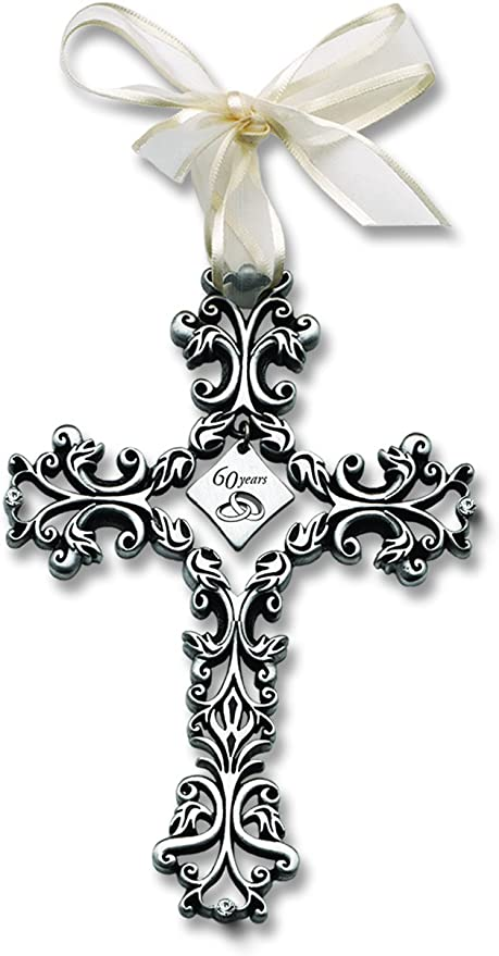 Cathedral Art FC321 60 Year Anniversary Wall Cross 5-Inch High