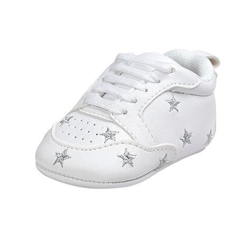Zapatos de bebé, Auxma Zapatos Bebe niña Primeros Pasos Invierno Recién Nacido Niñas Cuna Antideslizante Zapatillas niño Zapatos de Blanda Vestir Casual ...