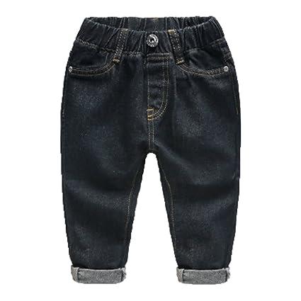 de9108421 WanYang Denim Jeans Pantalones Vaqueros para Niños Color Sólido Pantalones  Casuales 1-6 Años  Amazon.es  Ropa y accesorios