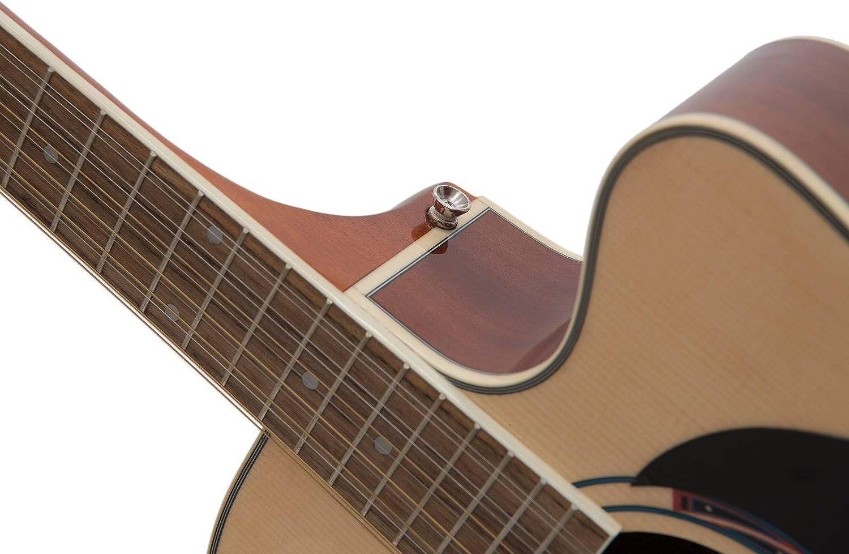 Set de 2 x Guitarra acústica TENVER de 12 cuerdas de acero, madera ...