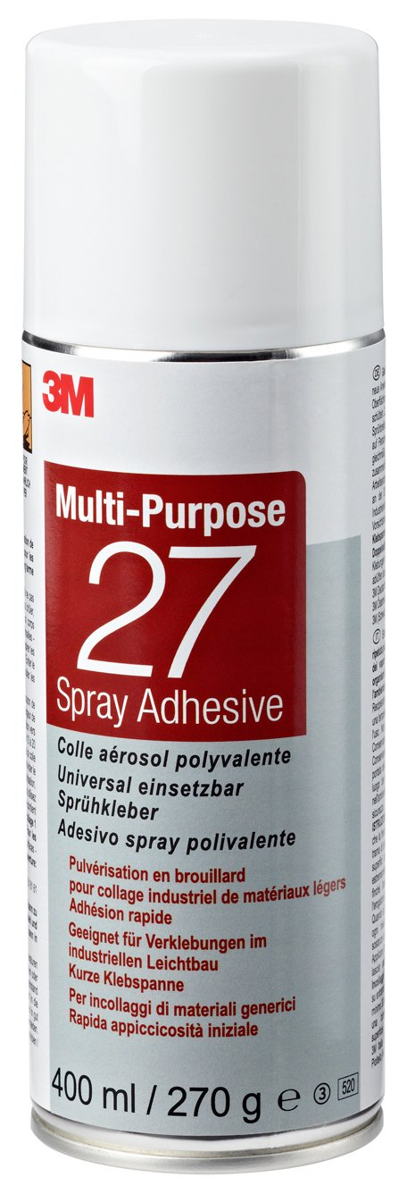 3M Sprü hklebstoff 27, Mehrzweckklebstoff, 400 ml (1-er Pack) 7000116811