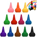 Crayons Toy Finger Crayons 12 Colors Washable Toddler Crayon Painting Stackable Toys for Kids