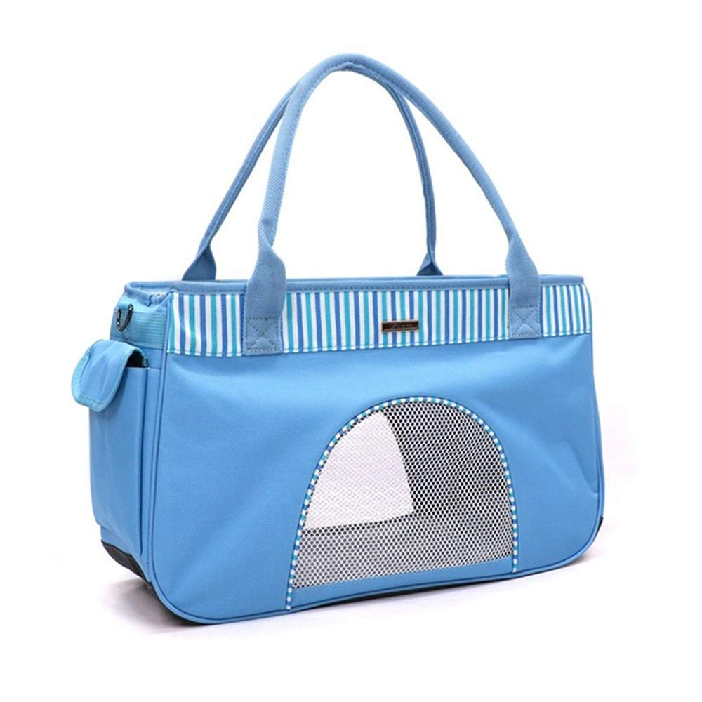 bluee US 10 bluee US 10 HEJUNF CA Pet Out Bag Breathable Summer Ventilated pet Bag (color   bluee, Size   US 10)