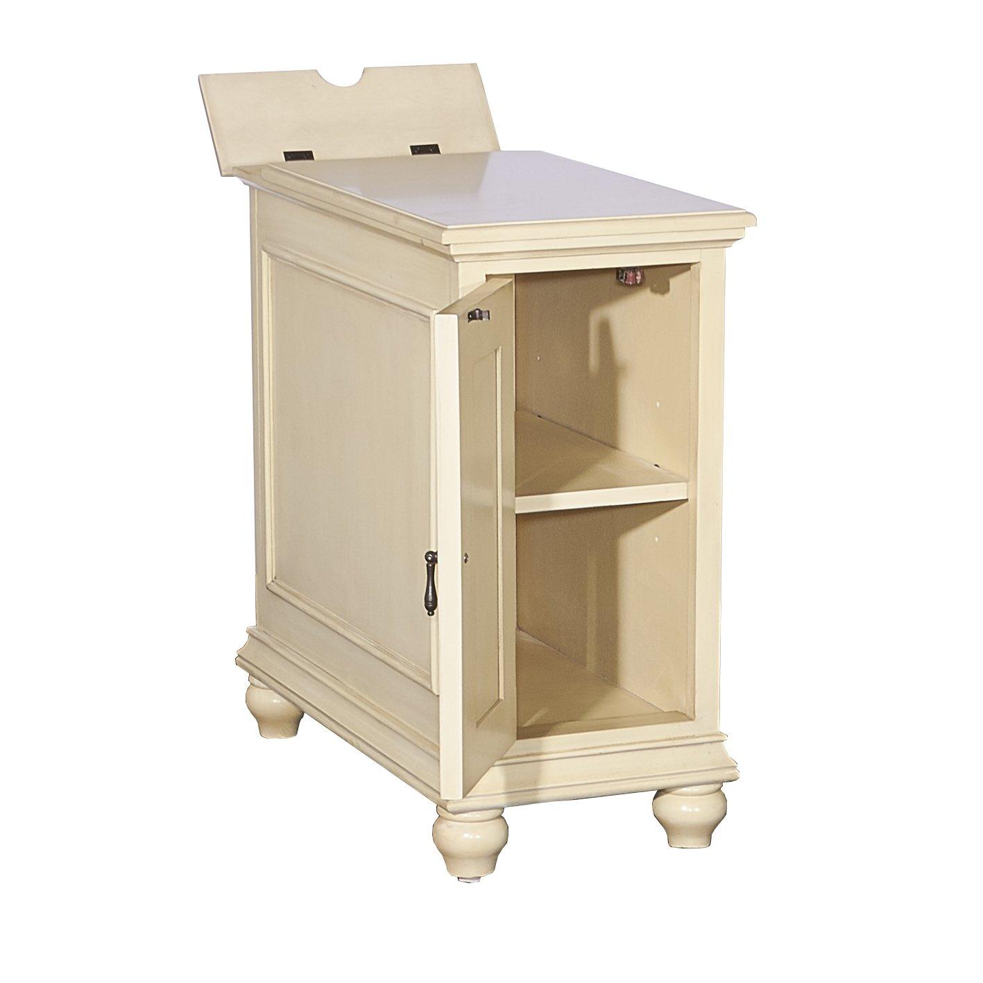 Cream Powell's Furniture 16A8257C Olsen Cream Shutter Cabinet,