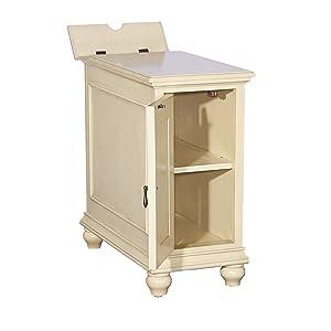 Powell's Furniture 16A8257C Olsen Cream Shutter Cabinet,