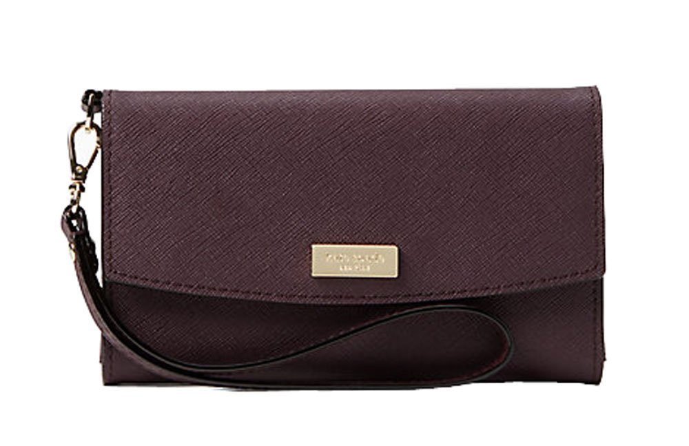 Kate Spade laurel way iphone wristlet, mahogany