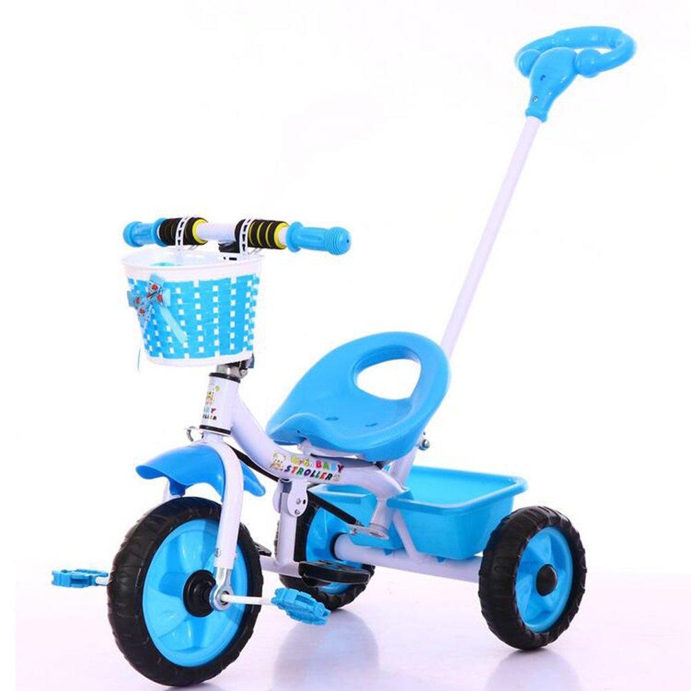 XQ 子供 軽量 EVA発泡ホイール 三輪車 1-3-5歳 赤ちゃん トロリー 子ども用自転車 ( 色 : 青 ) B07C7DM58D 青 青