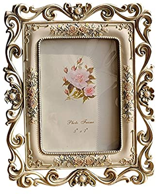 Gift Garden 5 by 7 Vintage Picture Frame Friends Gift for Photo display 5x7 Inch