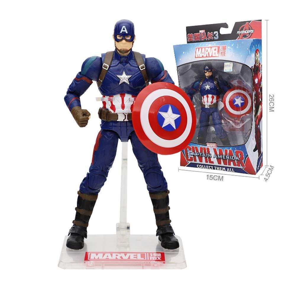 2 JIE. Avengers 4 - Iron uomo He modellolo modello Captain America bambolas Fighting Spideruomo giocattoli, 13