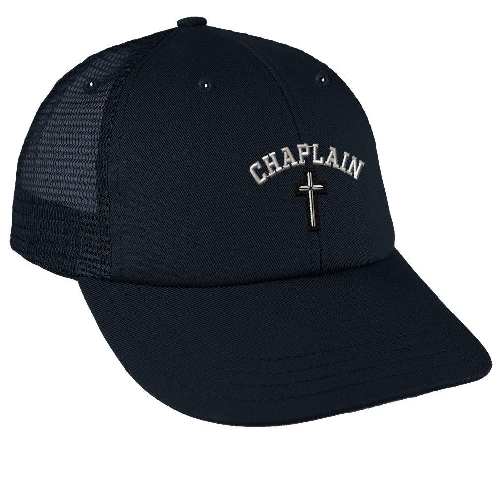 50533c11e Amazon.com: Cristian Chaplain Cross Embroidery Low Crown Mesh Golf ...