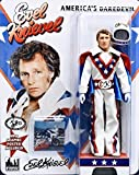 Evel Knievel 8-Inch Action Figure Dressed In White Jumpsuit & Complete With Cane & Mini Graphic Poster