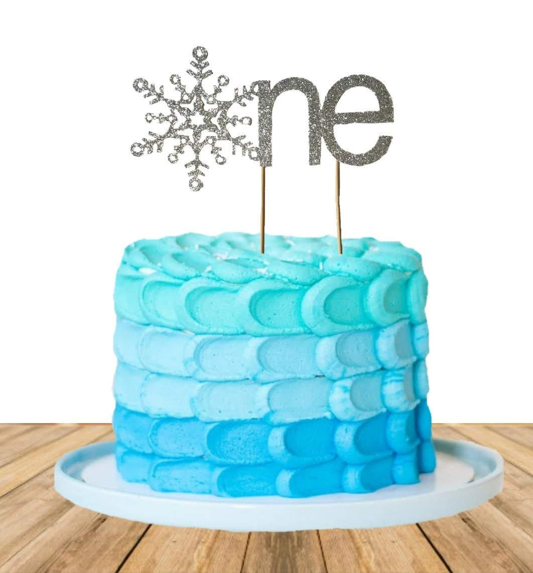 Pleasing Amazon Com One Snowflake Cake Topper Winter Onederland Cake Funny Birthday Cards Online Fluifree Goldxyz