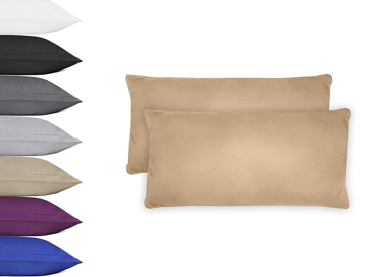 NatureMark 2er Pack Microfaser Kissenbezug 100/% Polyester Kissenh/ülle mit Rei/ßverschluss 40x40cm Anthrazit grau