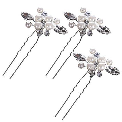 Frcolor Pasadores de pelo de la novia para las mujeres en el paquete de boda  y 04b05a560208