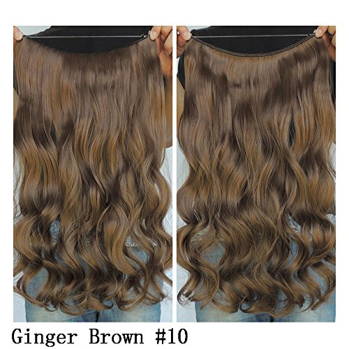 Hair Extension Ginger - Secret Halo Hair Extensions Flip in Curly Wavy Hair Extension Synthetic Women Hairpieces 20