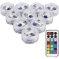 LUXJET® 10er Pack Mini RGB LED Luz Sumergible