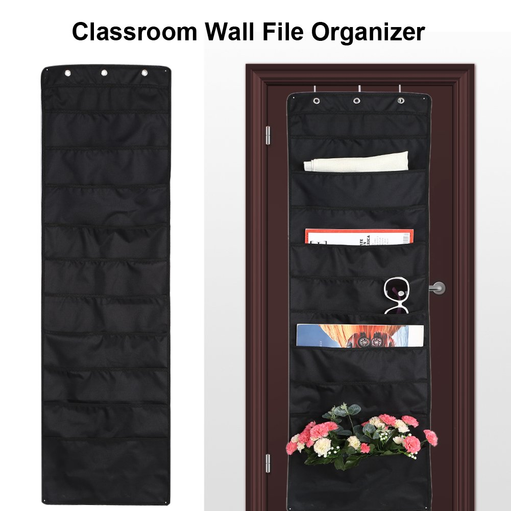 File Magazine Storage Bag Pouch Pocket Organizer Cascading Wall Holder Organizer for Home Store Cubicle Office School Hanging File Organizer