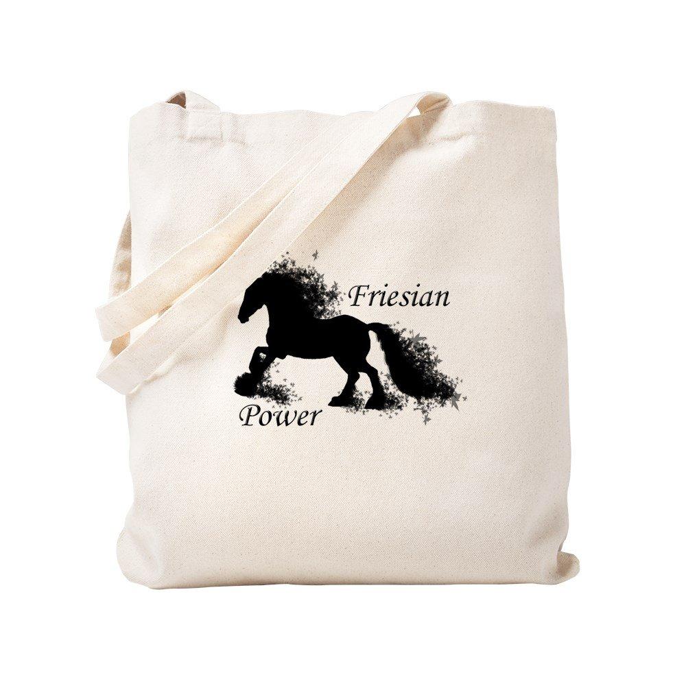 CafePress – Friesian電源 – ナチュラルキャンバストートバッグ、布ショッピングバッグ S ベージュ 0626003637DECC2 B0773PYLTG  S