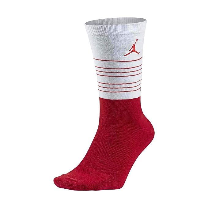 Amazon.com: Nike Air Jordan 13 Crew – Calcetines, color rojo ...