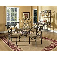 Steve Silver Company Brookfield Glass Top Dining Table, 42' W x 42' D x 30' H