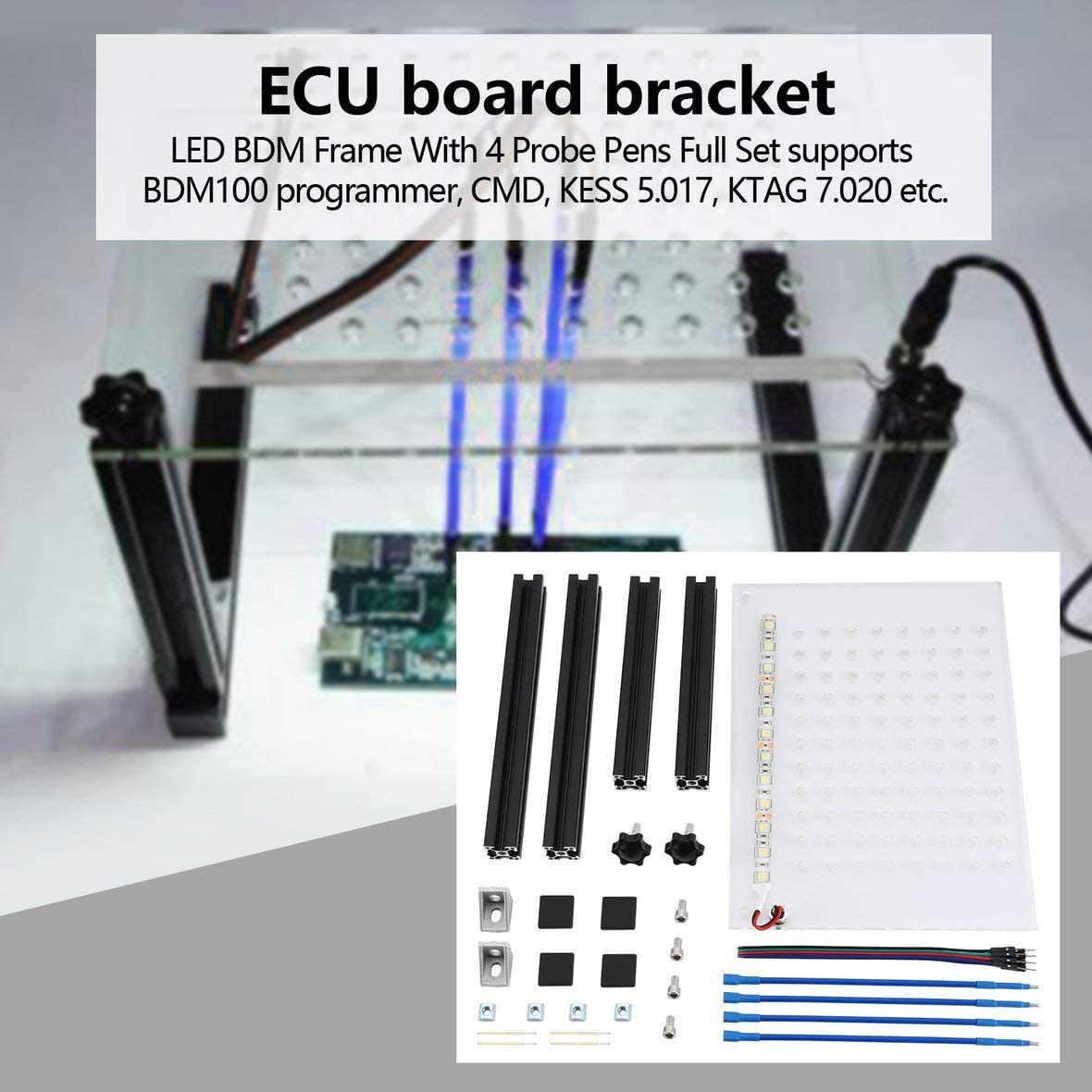 4 pezzi//set Penne sonda LED BDM Frame Pin con sostituzione cavo di collegamento per scheda ECU KTAG//KESS Programma ECU KIMISS