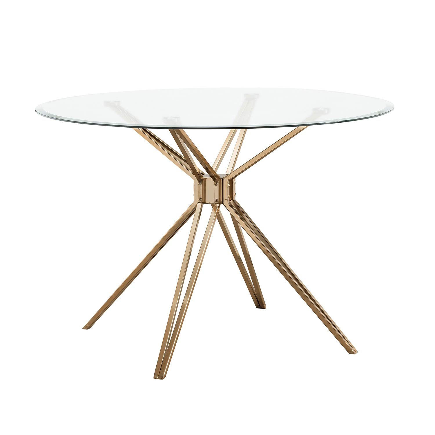 Southern Enterprises AMZ9360ND Atticus Dining Table, Gold