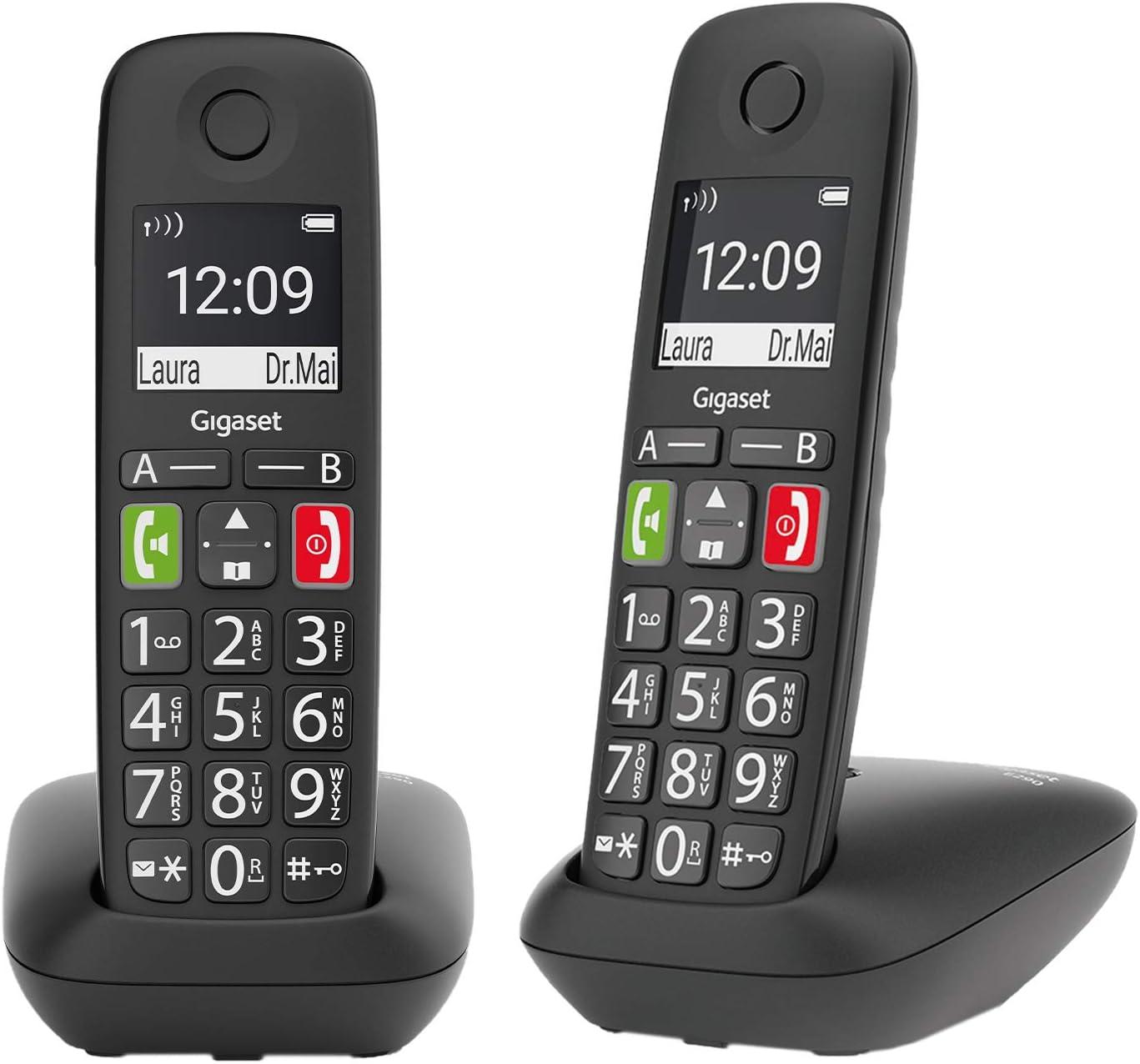 Gigaset E290 Duo 2 Schnurlose Senioren Telefone Ohne Elektronik