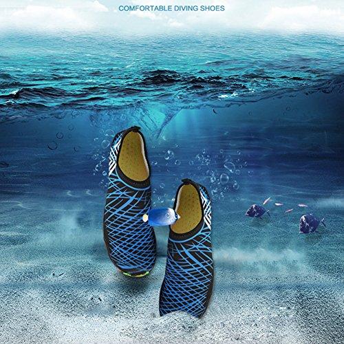 para la Saguaro la Yoga Calcetines de acuático Resaca de Skin la Descalzo Playa Nadada Aqua Azul 4 de Shoes de nqrCYOwq