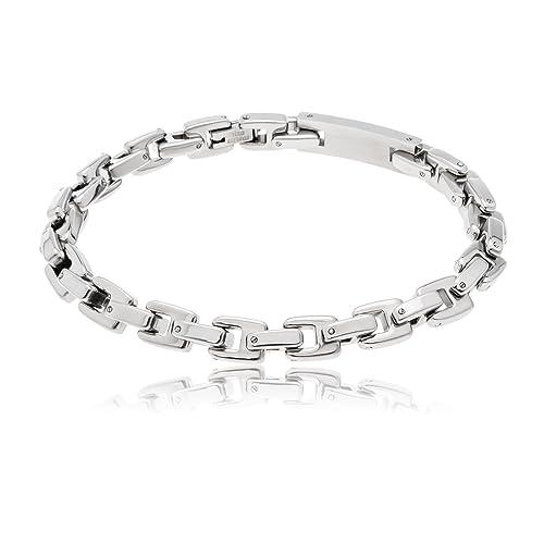 48f166eeb283 ordoš Diamonds® Acero inoxidable, hombre, mujer, pulsera de cadena ...