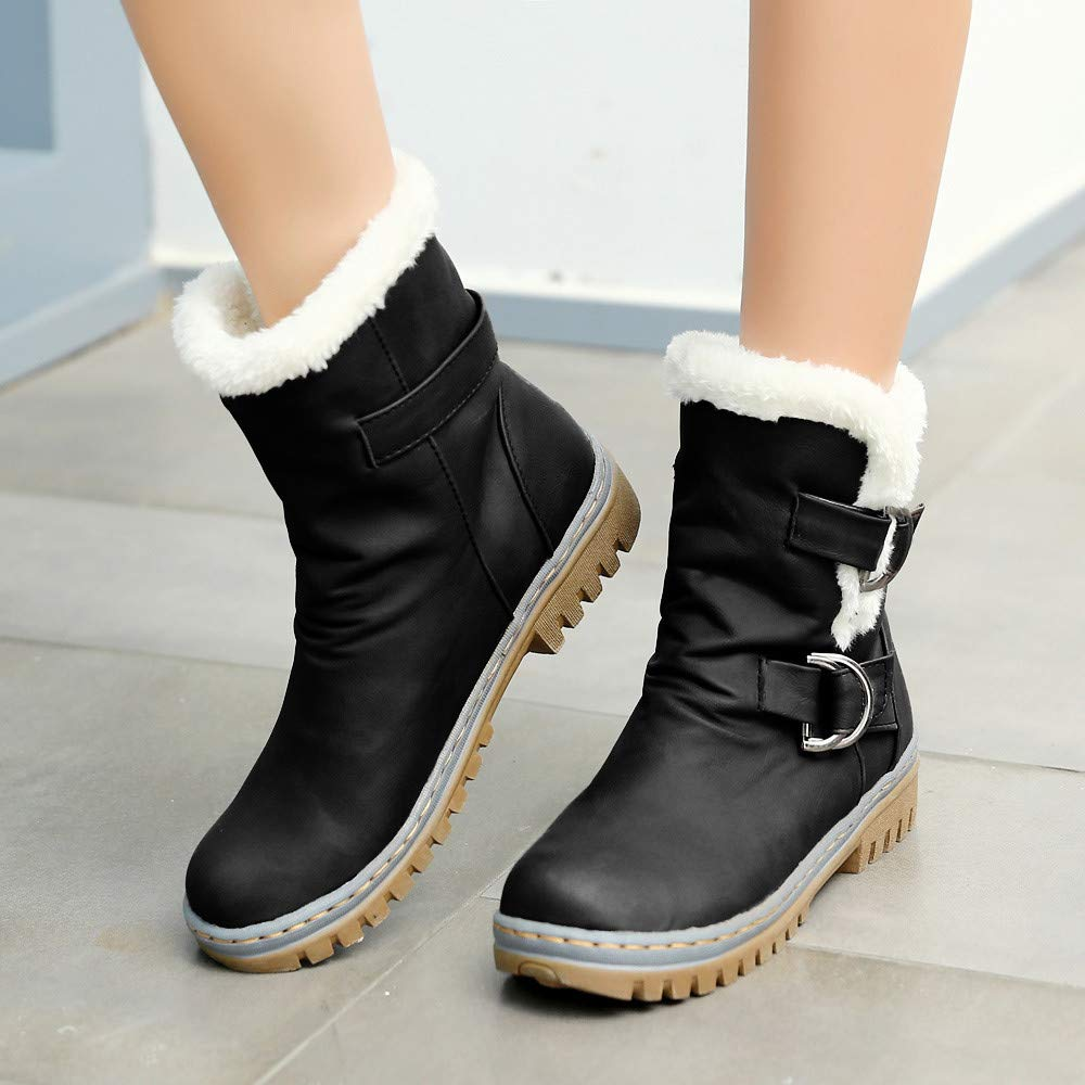 TianWlio Stiefel Frauen Winter Warm Schuhe Stiefeletten