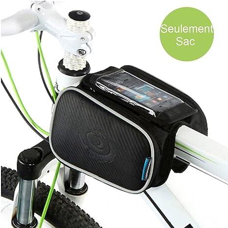Caja de marco para bicicleta, WOTOW Top Tubo de bolsa dos fundas ...