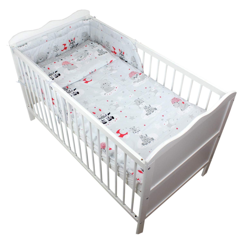 TupTam Baby Bettw/äsche mit Nestchen Gemustert 3-TLG.