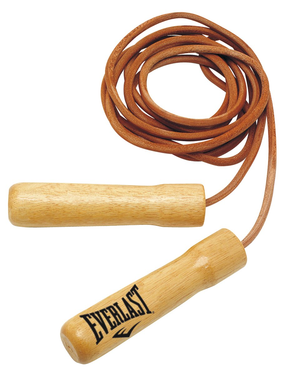 Everlast Leather Non-Weighted Jump Rope (8 feet)