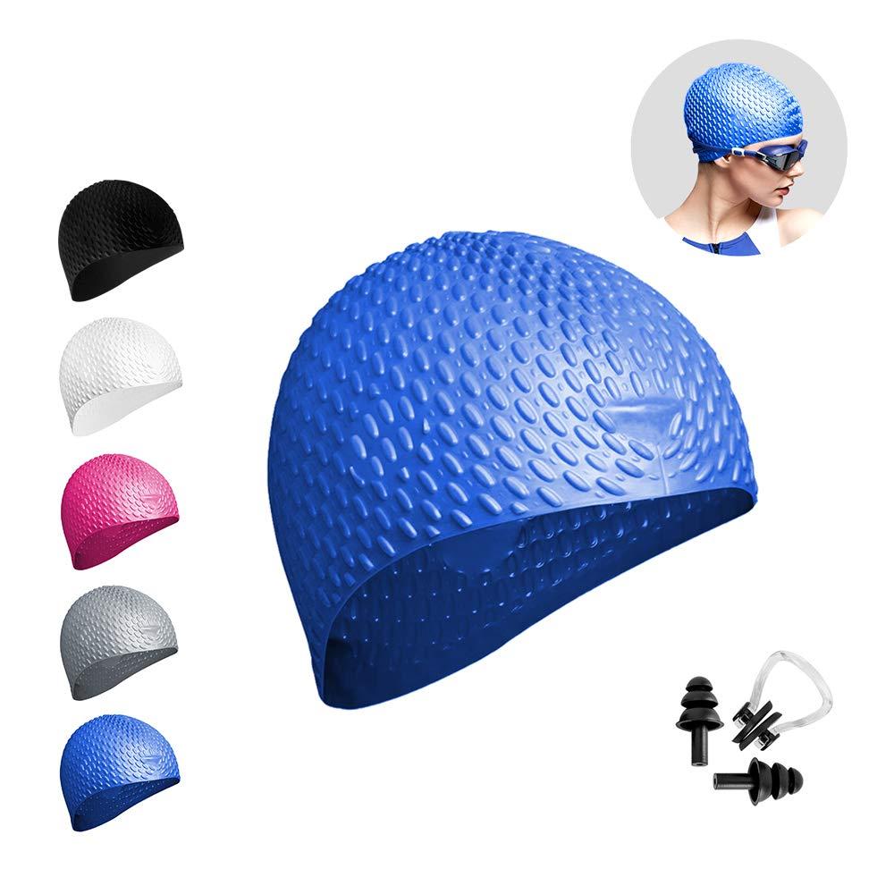 42dab30c8360 Cuffia da nuoto per donna / uomo, Bambina, cappello da nuoto in silicone per