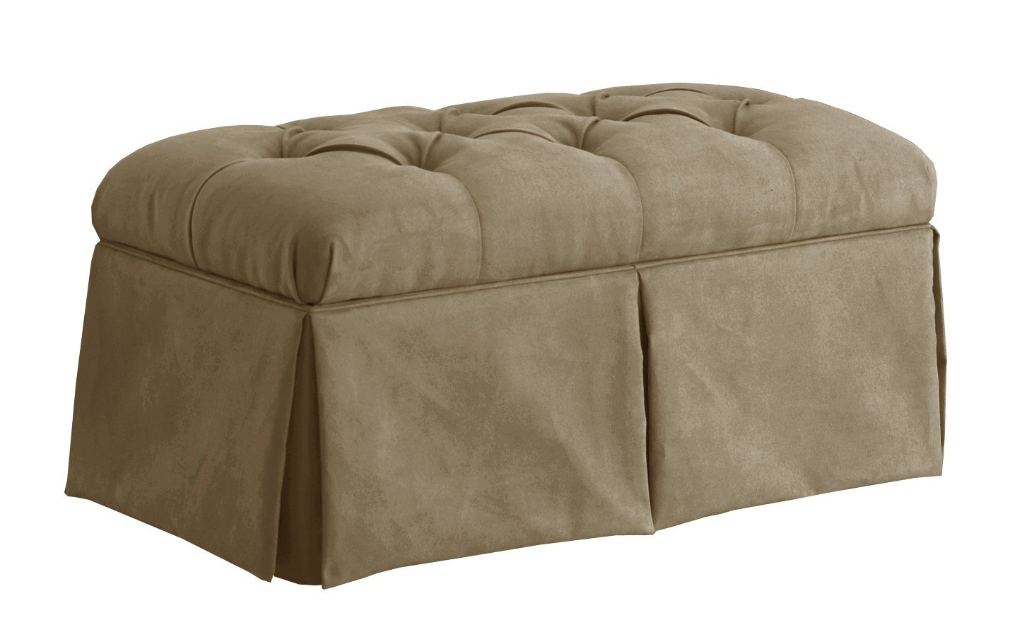 Amazon.com: Skyline Furniture Velvet Skirted Storage Bench, Aubergine:  Kitchen U0026 Dining