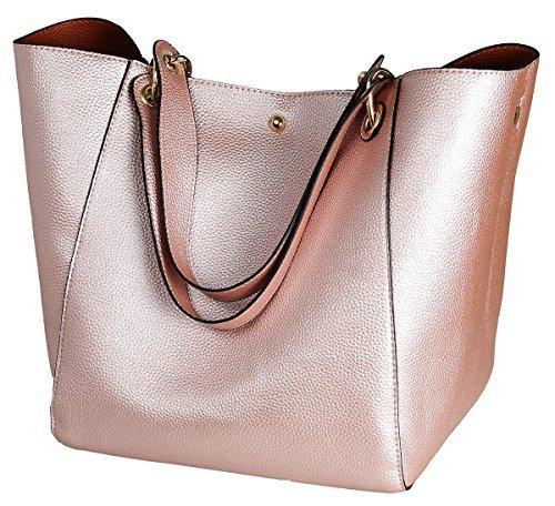 Gold Tote Handbags - SQLP Women's Waterproof Handbags ladies Leather Shoulder Bag Fashion Totes Messenger Bags