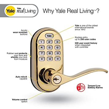 yale real living security yrl 210 ha 619 electronic keyless entry