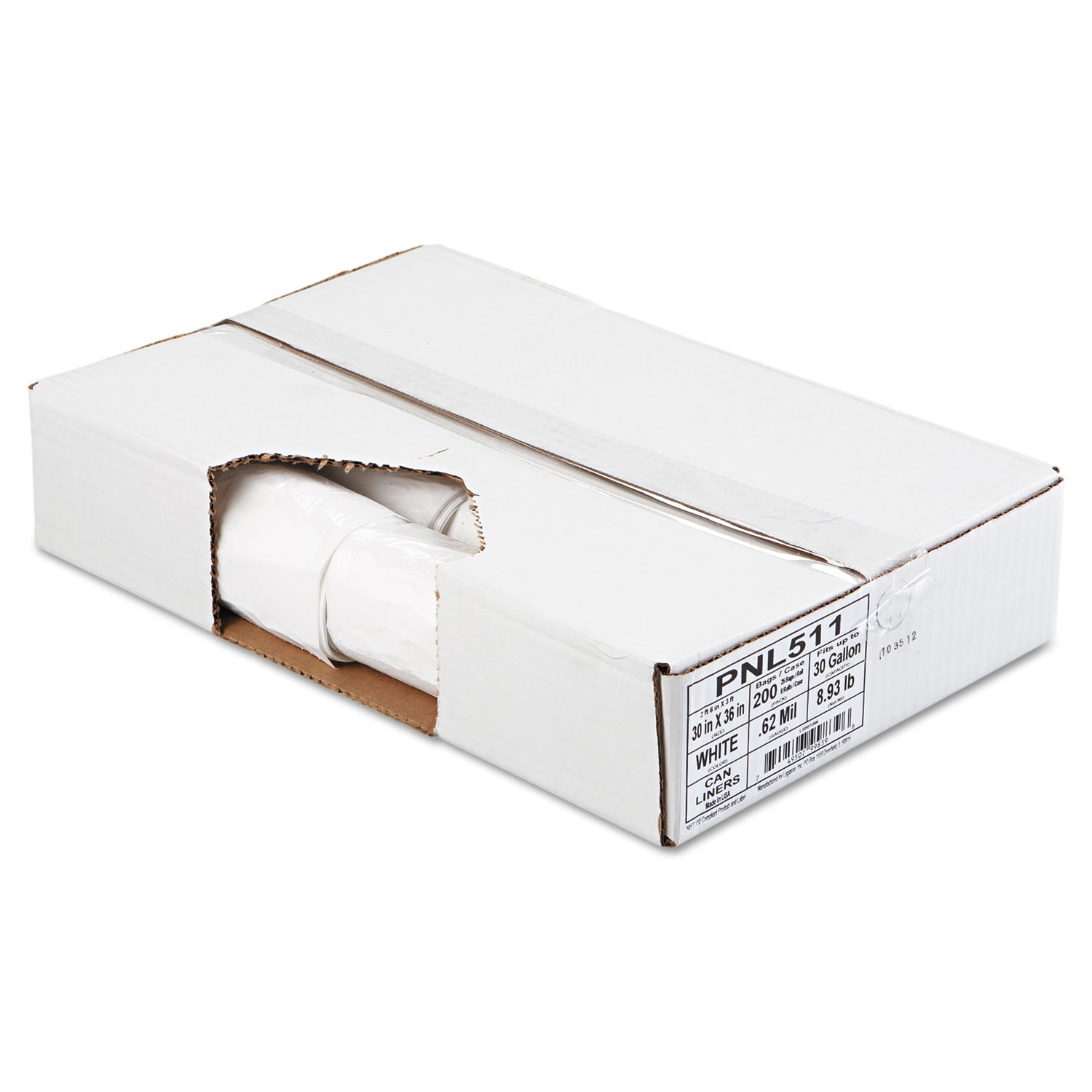 Penny Lane 511 Linear Low Density Can Liner, Perforated Coreless Roll.62Mil, 30x36 (Case of 200 Bags)