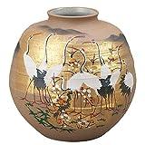 KUTANI YAKI(ware) Vase Flocks of Cranes