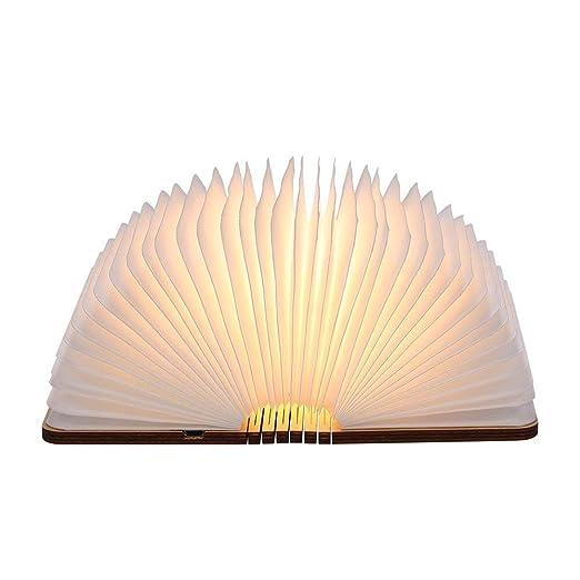 Livre Lampe Pliante Tomshine 500 Lumens Lampe Led Livre Rechargeable Usb Port Livre Lumineux Bois Blanc Chaud Dimension 12 1 9 5 2 5cm Classe