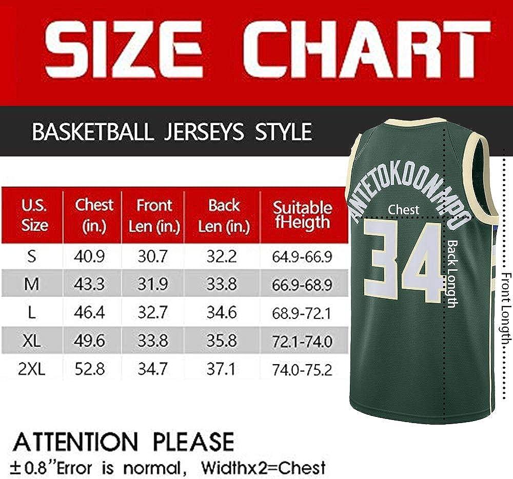 Gkgdko Mens Giannis Jerseys Sports Adult 34 Basketball Shirts Athletics