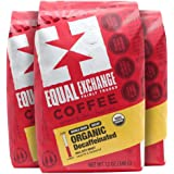 Equal Exchange Organic Whole Bean Coffee, Decaf, 12-Ounce Bag (Pack of 3)