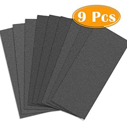 Paxcoo 9 Pcs 3000 5000 7000 High Grit Wet And Dry Sandpaper Assortment Drywall Sanding Paper 9 X 3 6 For Car Paint Auto Body Automotive Polishing