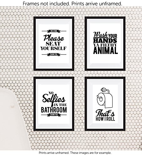 Designs by Maria Inc. Funny Bathroom Decor Typography ...