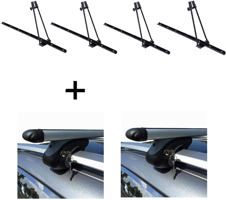 VDP 4X Orion Porte-v/élos avec barres de toit XL 135 compatible avec Fiat Freemont /à partir de 11