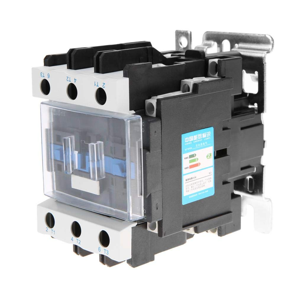 AC Contactor CJX2-8011 General Purpose High Sensitivity Coil Contactor Household 220V AC Contactor 8A Fixed /& Rail Type Mounting
